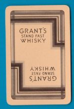 Collectible Vintage advertising playing cards. Grant's Whisky